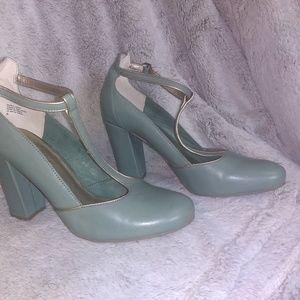 Seychelles Leather Mary Jane Heels